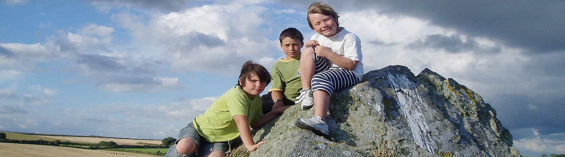 Children on Rock