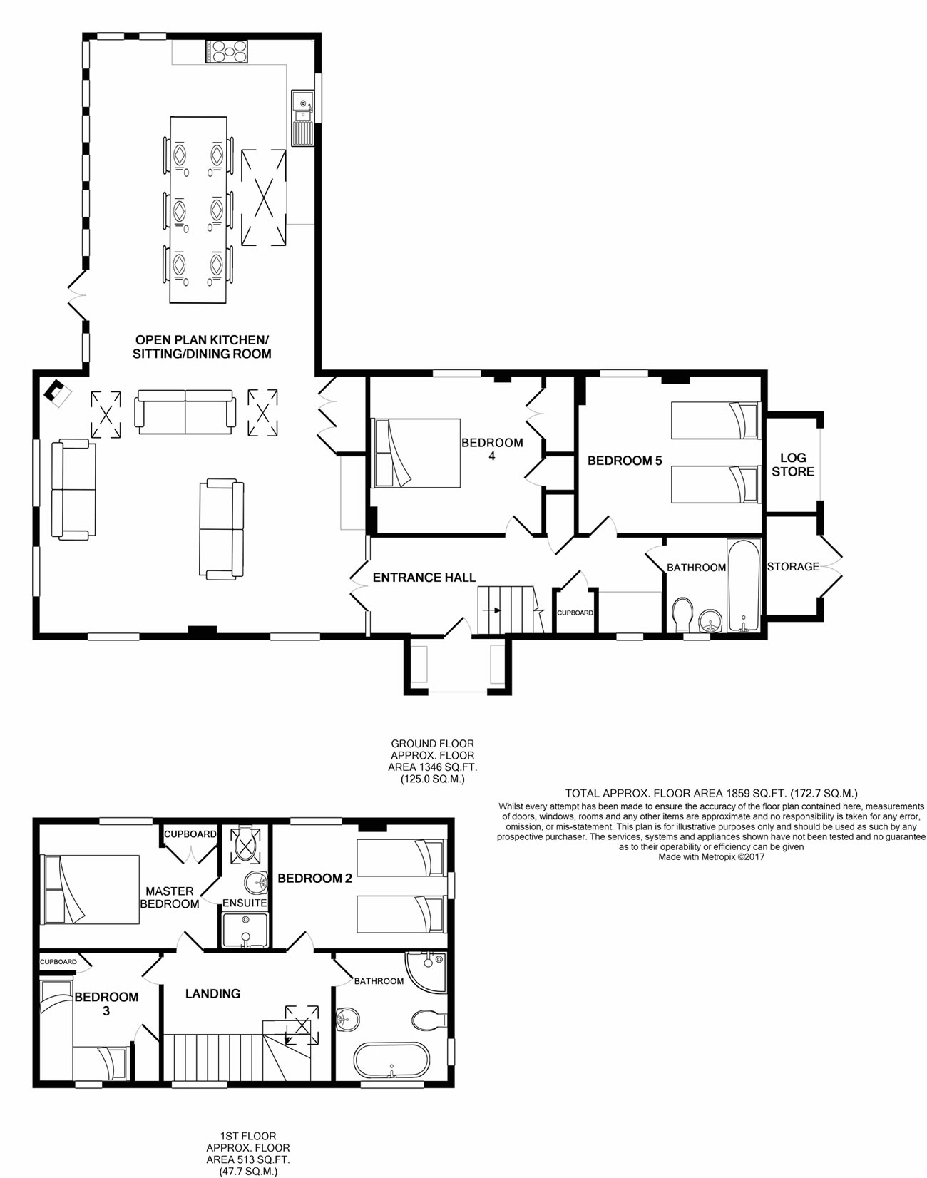 Corner Cottage Floor Plan