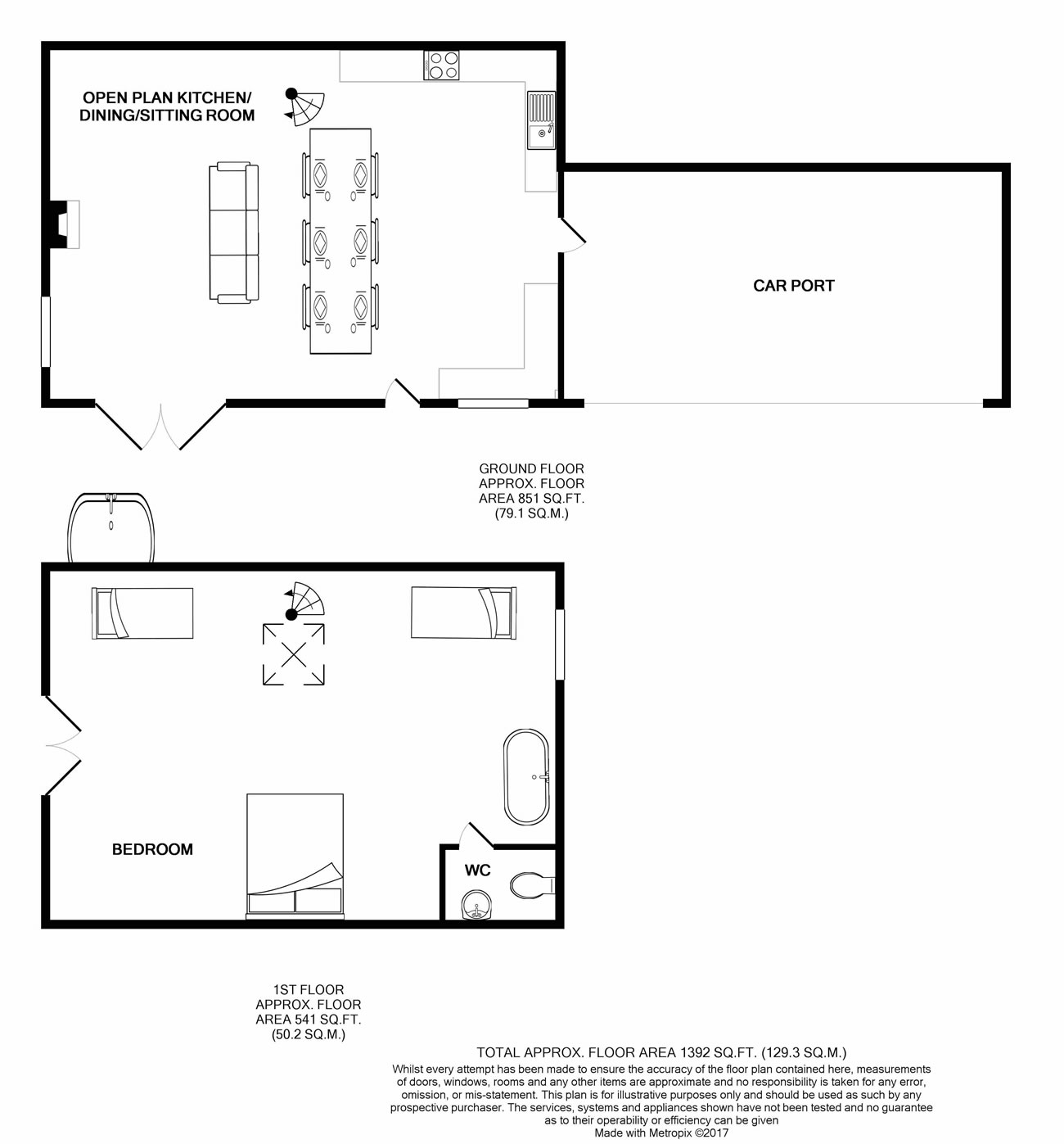 Crofters Cottage Floor Plan